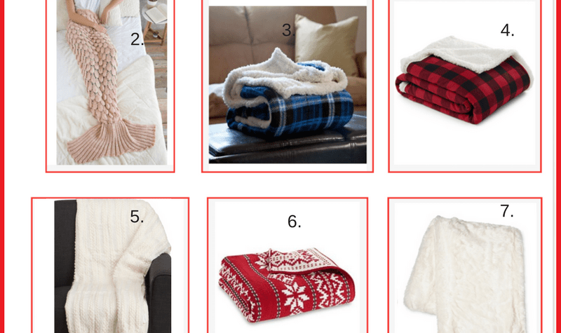 holiday gift guide cozy throw blankets